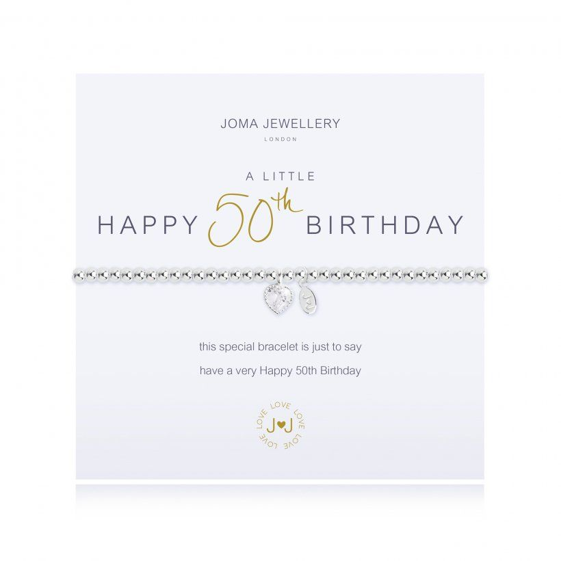 Joma Bracelet - Happy 50th Birthday, Jewellery