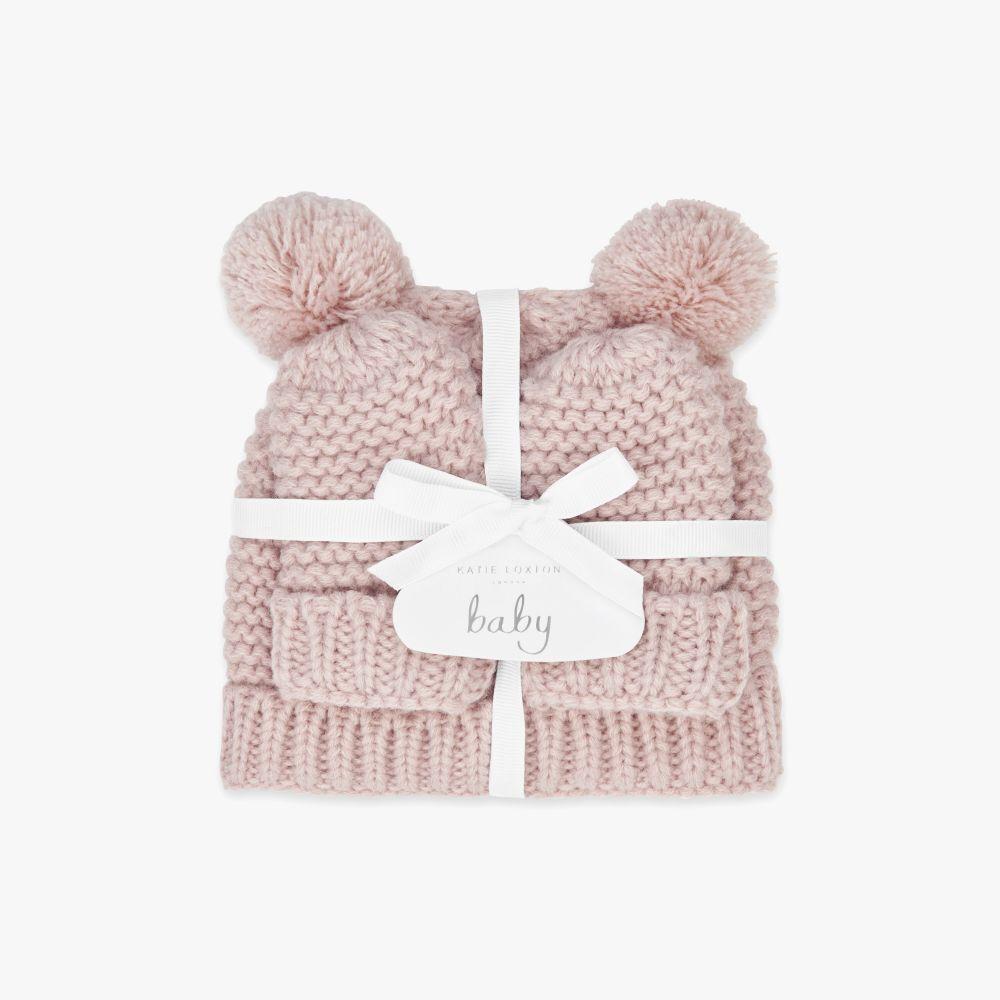 Katie Loxton Baby Hat & Mittens Set - Pink, Katie Loxton