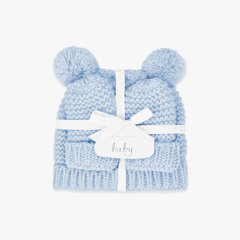 Katie Loxton Baby Hat & Mittens Set - Blue, Katie Loxton