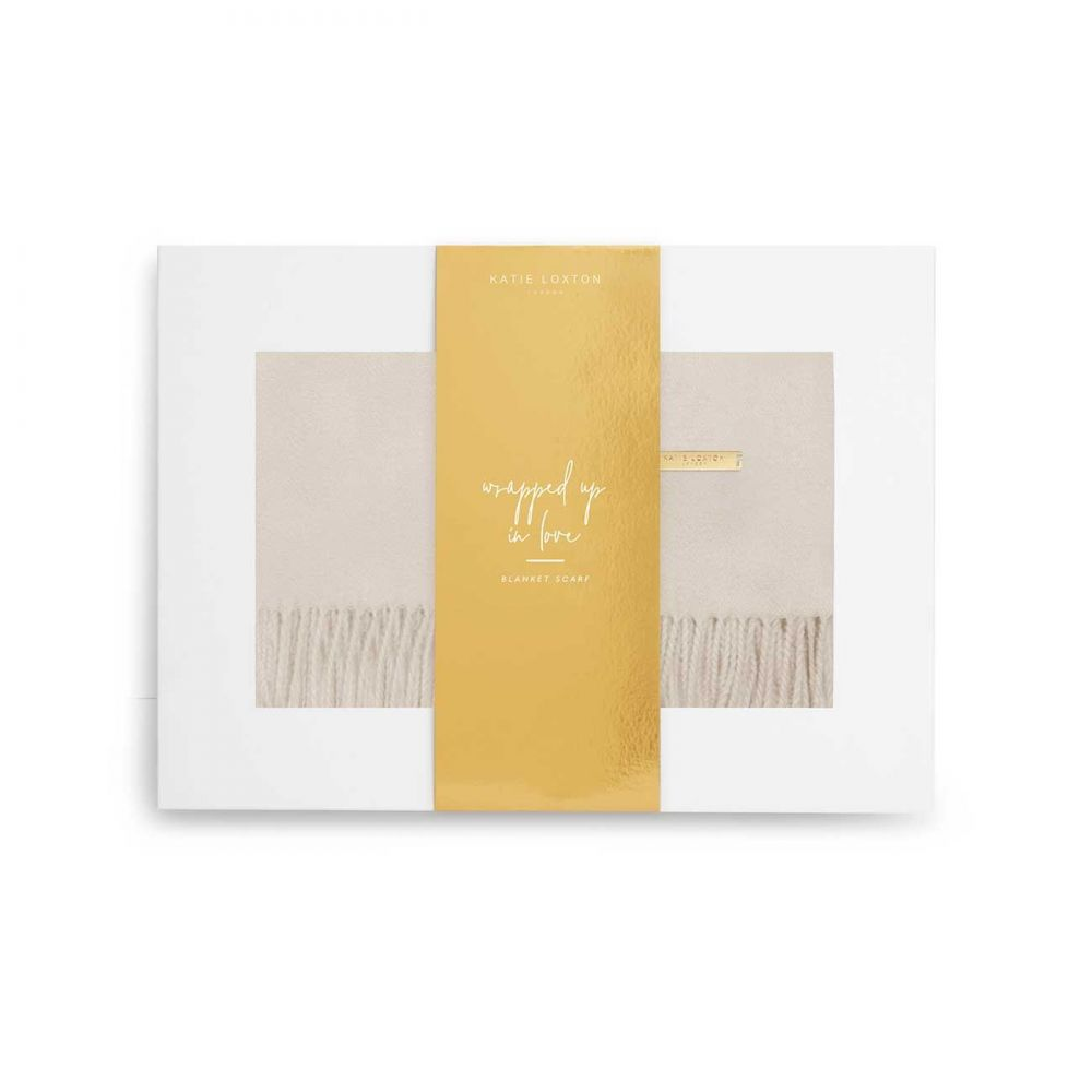 Katie Loxton Wrapped up in Love Boxed Scarf - Moonbeam, Katie Loxton