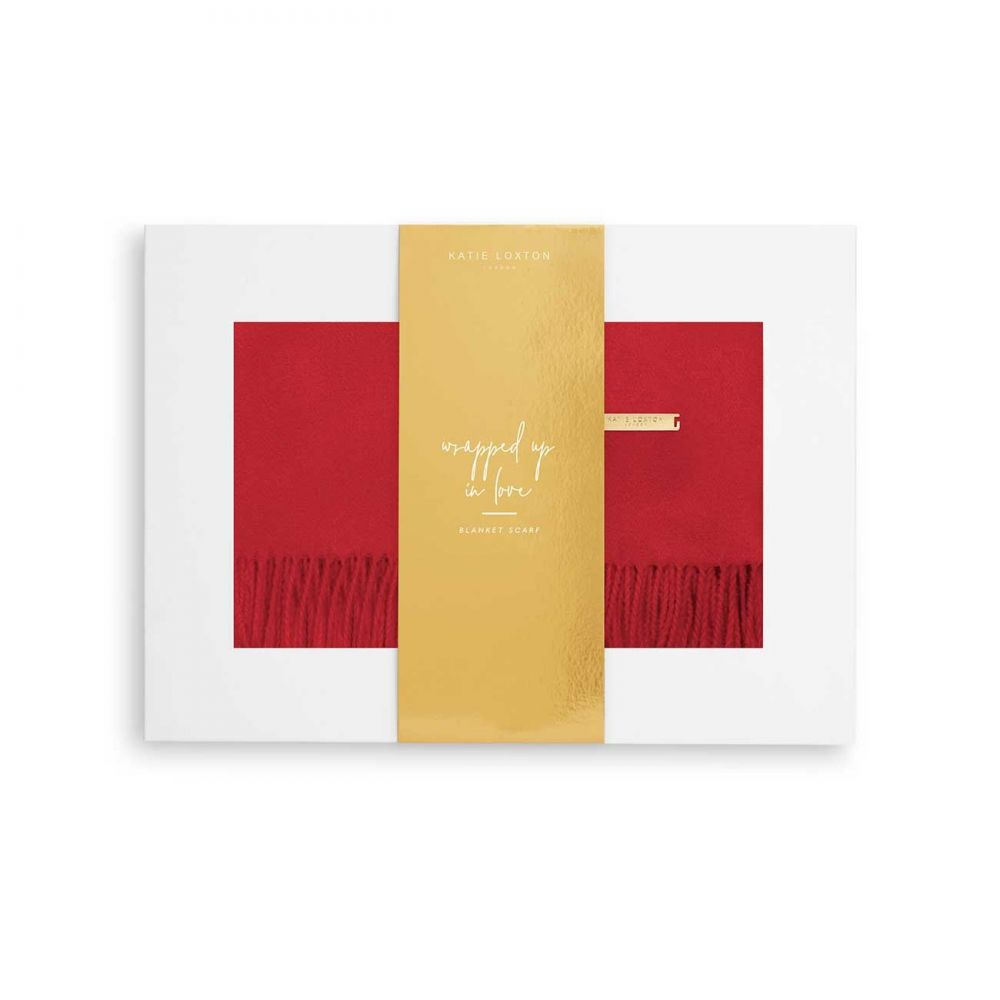 Katie Loxton Wrapped up in Love Boxed Scarf - Red, Katie Loxton