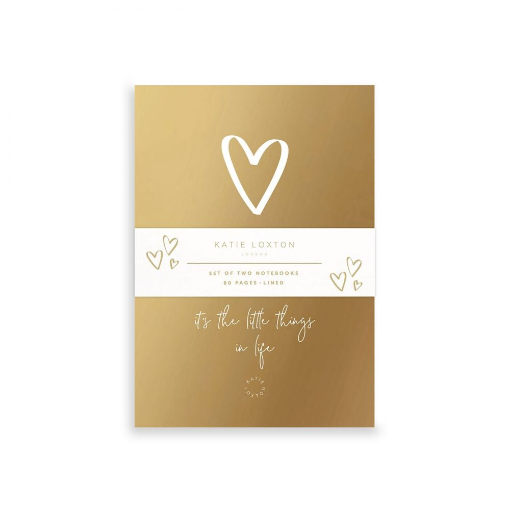 Katie Loxton Small Duo Pack Notebooks - It's the Little Things in Life, Katie Loxton