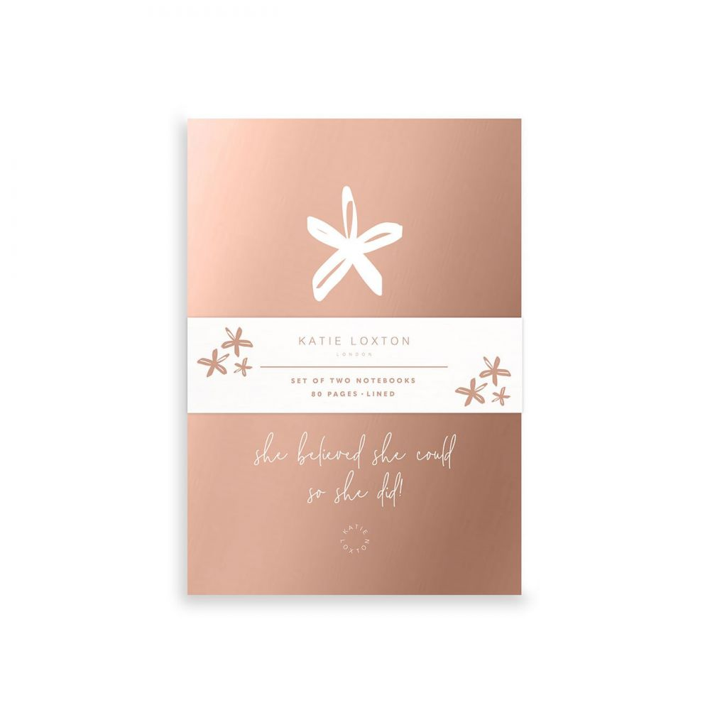 Katie Loxton Small Duo Pack Notebooks - She believed she could so she did, Katie Loxton