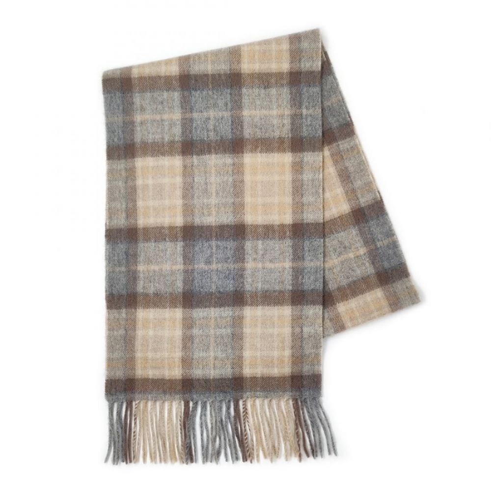Kiltane Lambswool Scarf - MacKeller Natural, Accessories