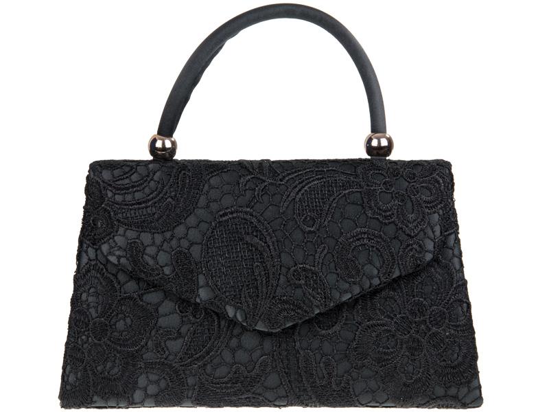 Lace Handle Bag - Black, Accessories