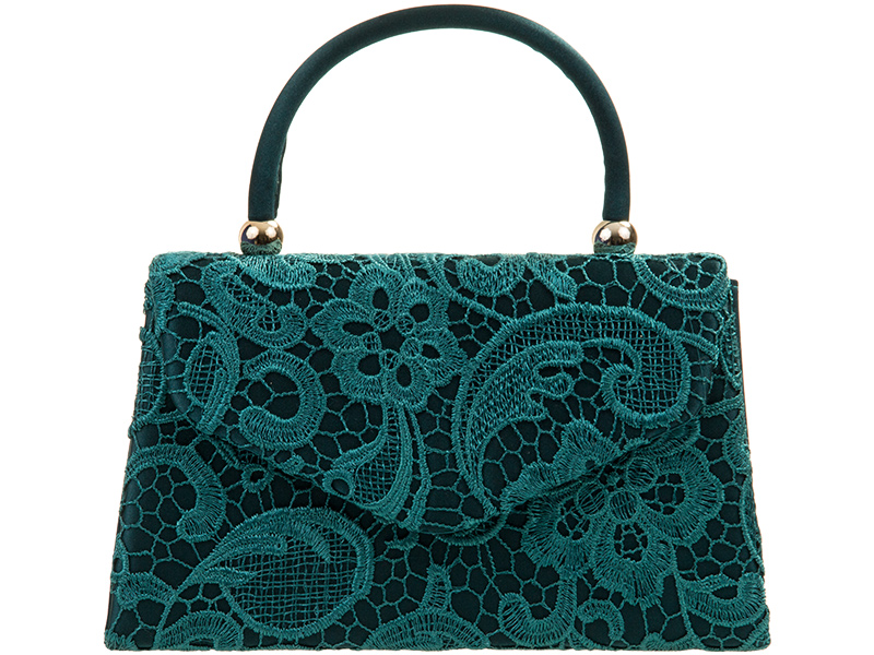 Lace Handle Bag - Teal, Accessories