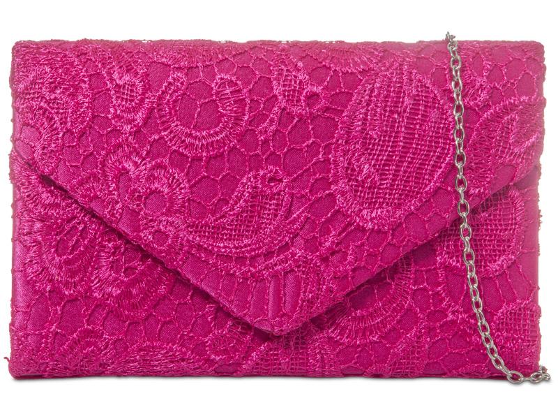 KOKO Lace Clutch Bag - Fuschia, Accessories