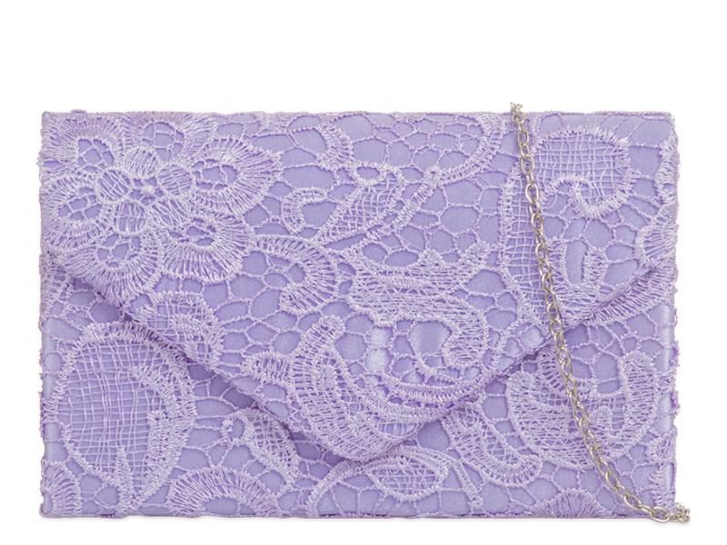 KOKO Lace Clutch Bag - Lilac, Accessories