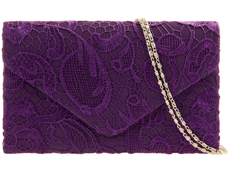 KOKO Lace Clutch Bag - Purple, Accessories