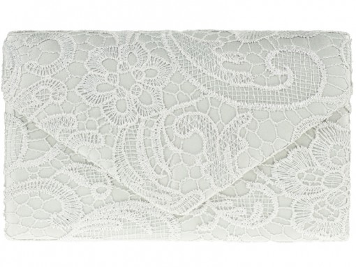 KOKO Lace Clutch Bag - Silver, Accessories