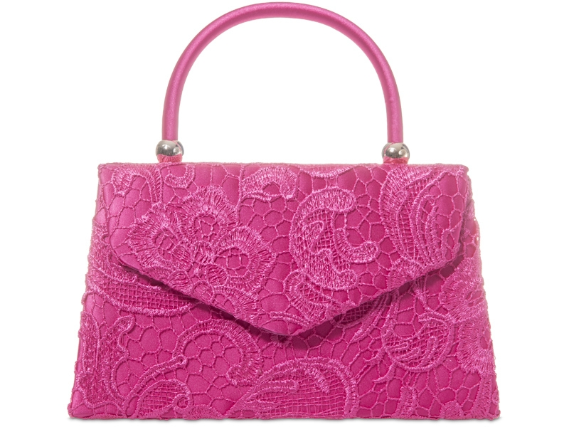 Lace Handle Bag - Fuchsia, Accessories