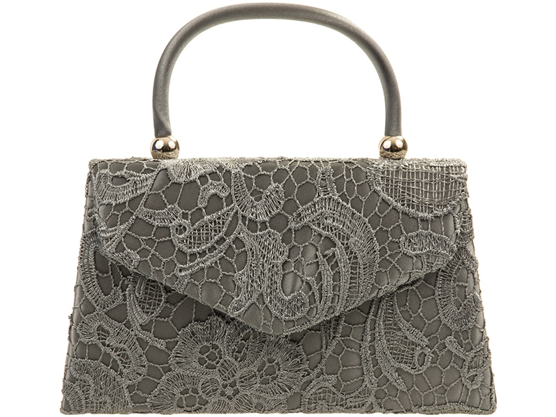 Lace Handle Bag - Grey, Accessories