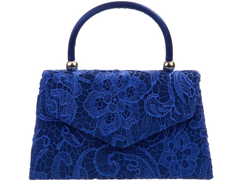 Lace Handle Bag - Royal Blue, Accessories