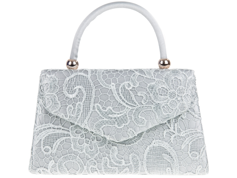 Lace Handle Bag - Silver, Accessories