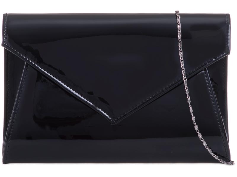 KOKO Patent Clutch Bag - Black, Accessories