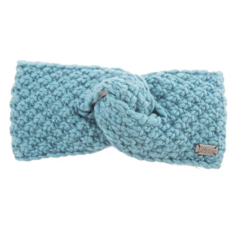 KuSan Fleeced Lined Moss Yarn Headband - Aqua, Accessories