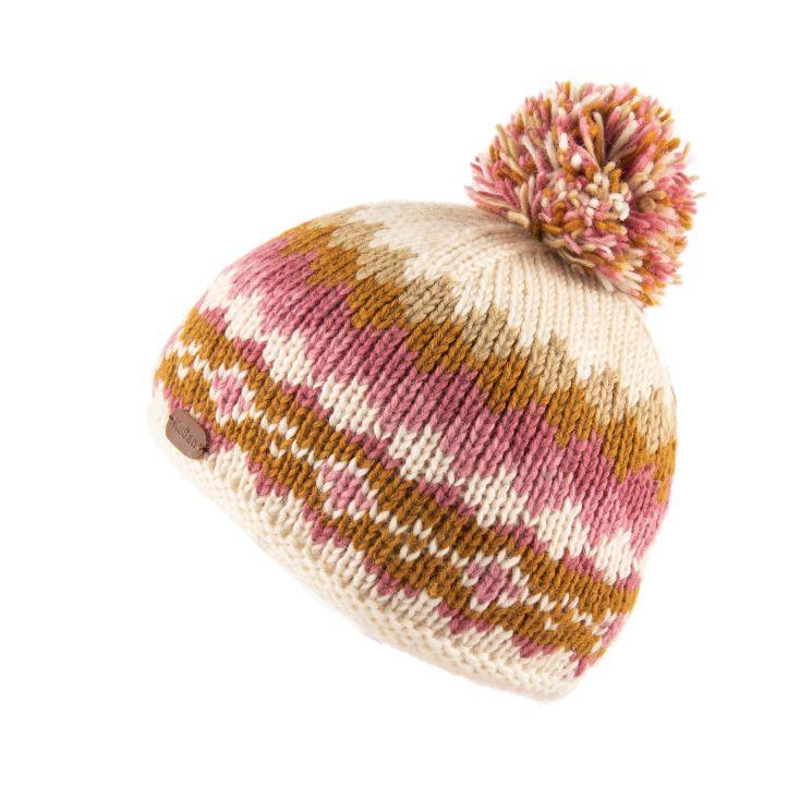 KuSan Fleece Lined Bobble Hat - Caramel, KuSan Hats & Accessories