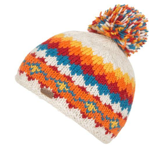 KuSan Fleece Lined Unisex Bobble Hat - Oatmeal, KuSan Hats & Accessories