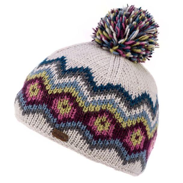 KuSan Fleece Lined Unisex Bobble Hat - Blue, Ladies Hats