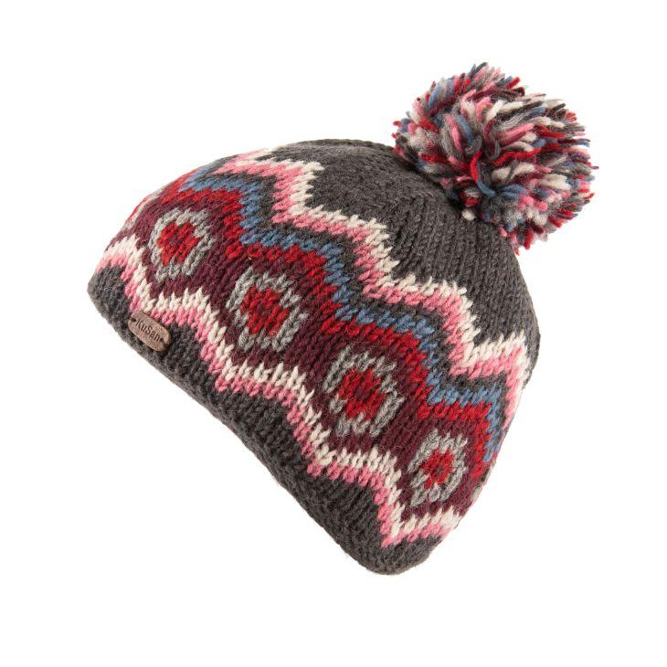 KuSan Fleece Lined Unisex Bobble Hat - Charcoal, KuSan Hats & Accessories