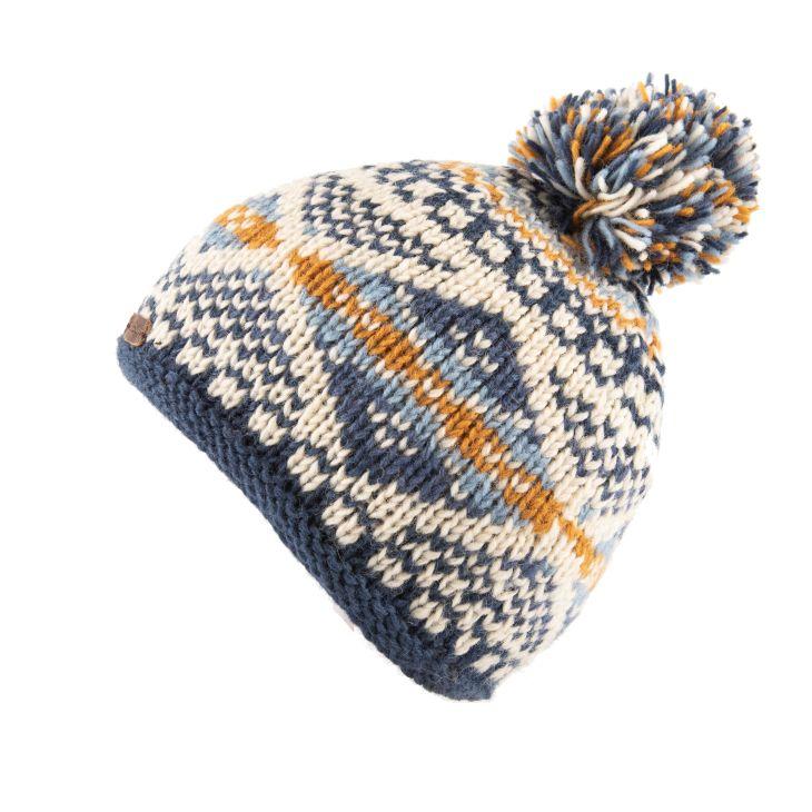 KuSan Fleece Lined Unisex Bobble Hat - Blue, KuSan Hats & Accessories