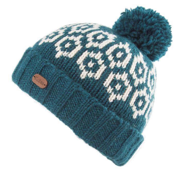 KuSan Fleece Lined Unisex Bobble Hat - Petrol, KuSan Hats & Accessories