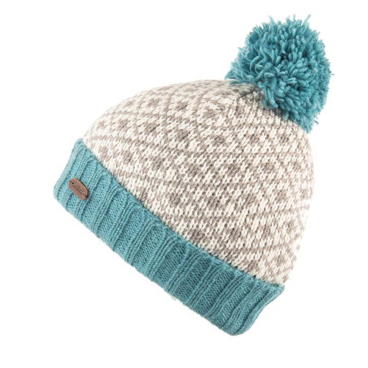 KuSan Fleece Lined Unisex Bobble Hat - Aqua, KuSan Hats & Accessories
