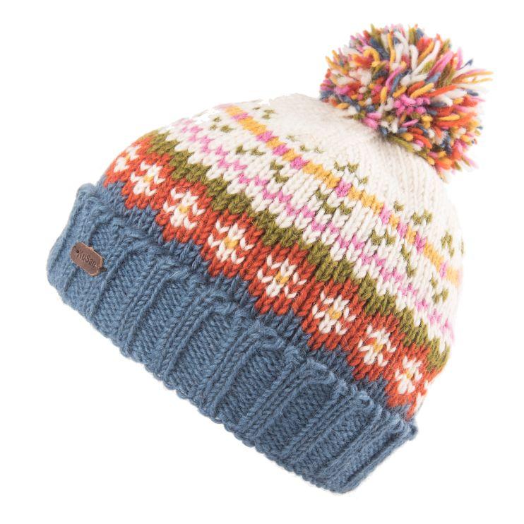 KuSan Fleece Lined Unisex Bobble Hat - Denim, KuSan Hats & Accessories