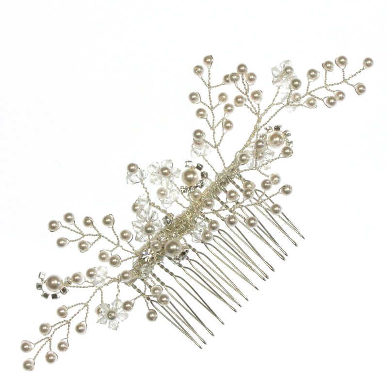 Pearl Wildflower Hair Comb, Bridal Hair Accessories