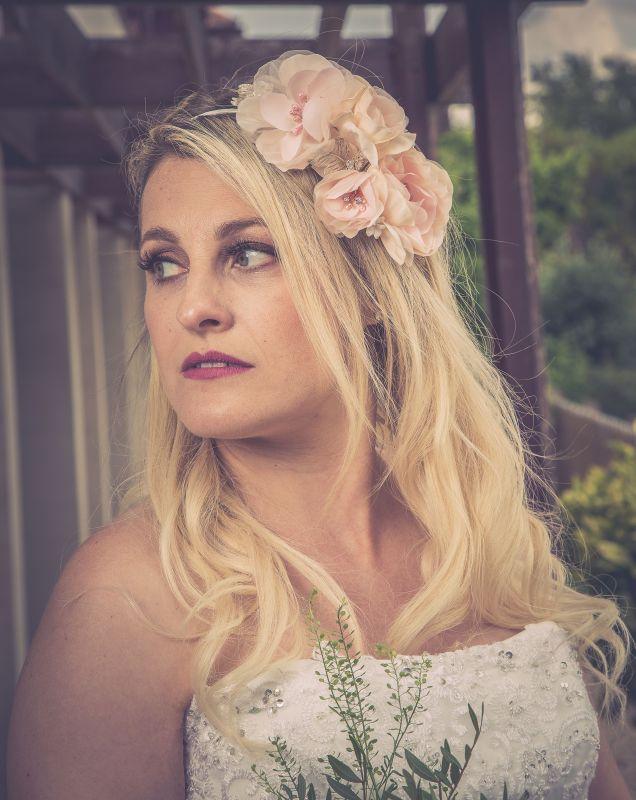Floral Bridal Side Headband, Bridal Hair Accessories
