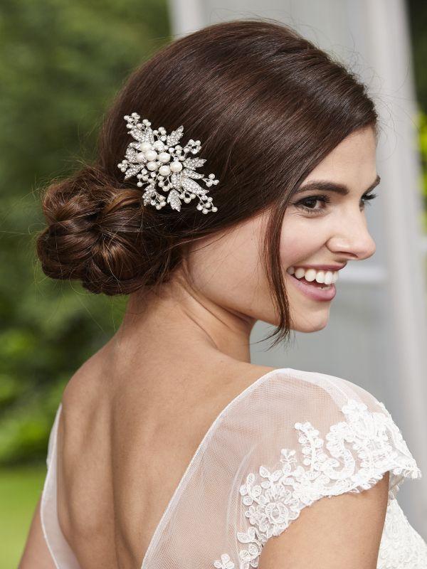 Pearl & Leaf Vintage Bridal Comb, Bridal Hair Accessories