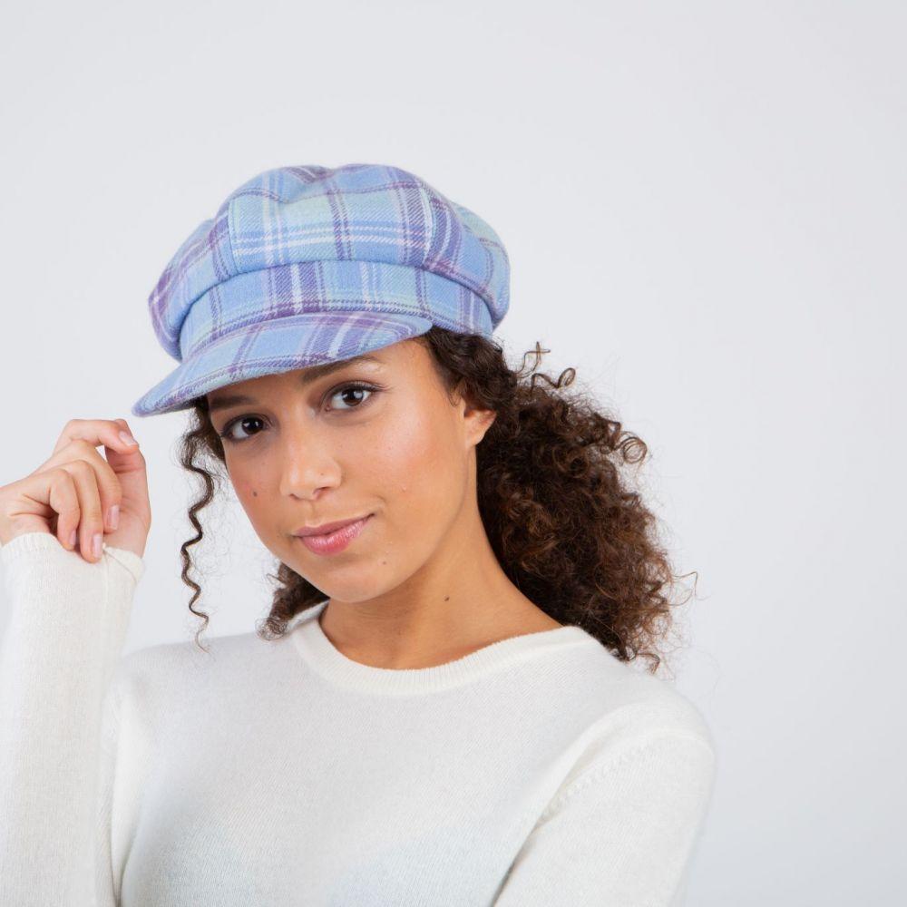 Ness Iona Tweed Bakerboy Cap - Heather, Ladies Hats