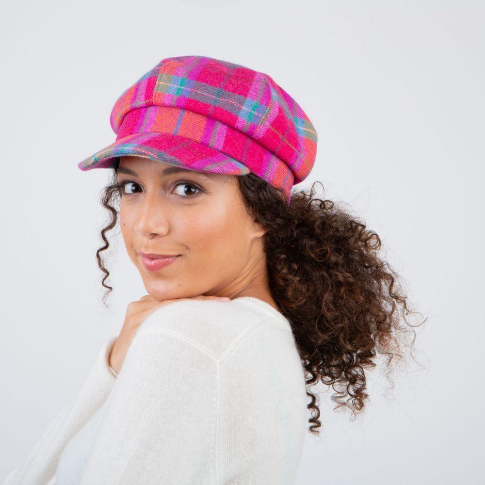 Ness Iona Tweed Bakerboy Cap - Melrose, Ladies Hats