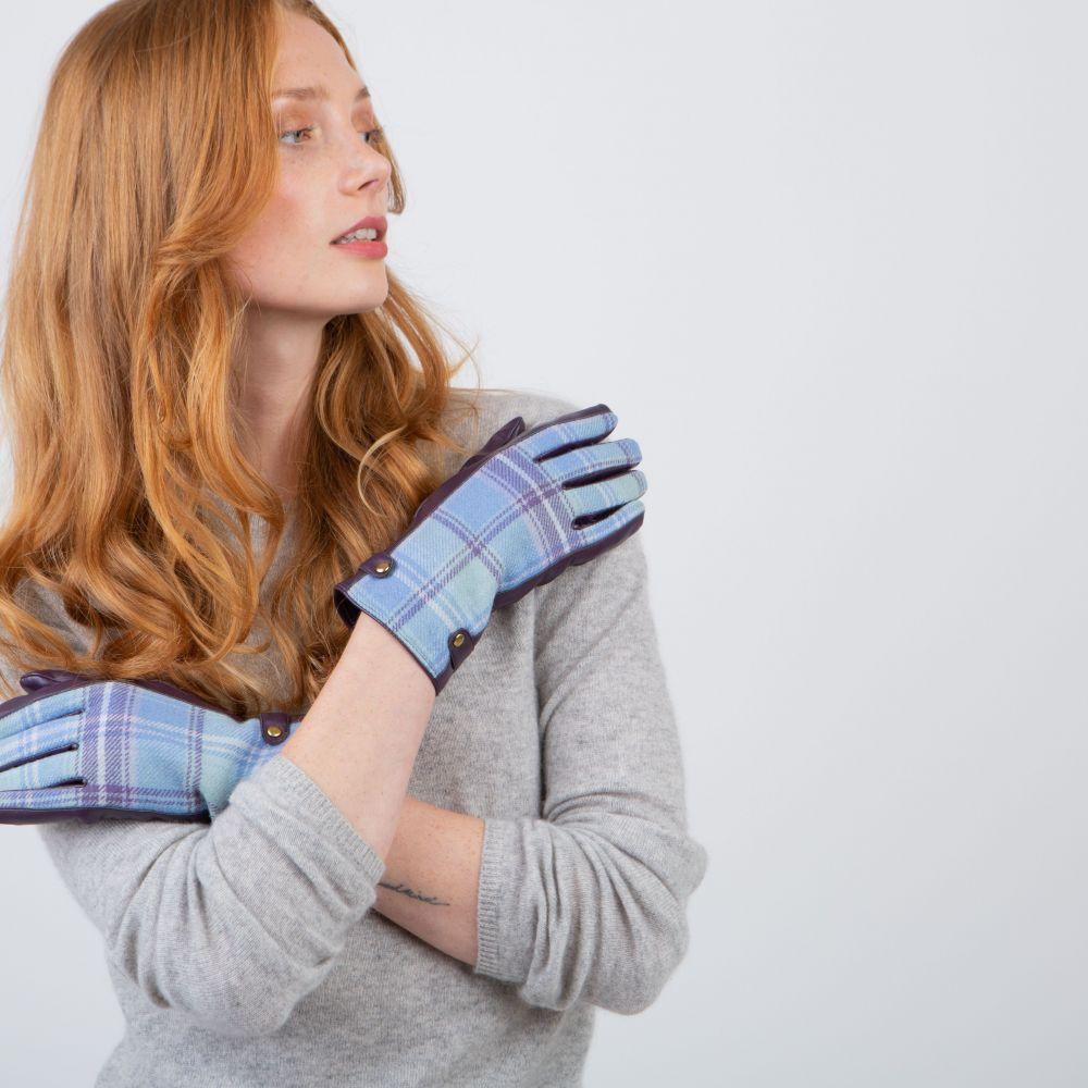 Ness Roxburgh Tweed Gloves - Heather, Accessories