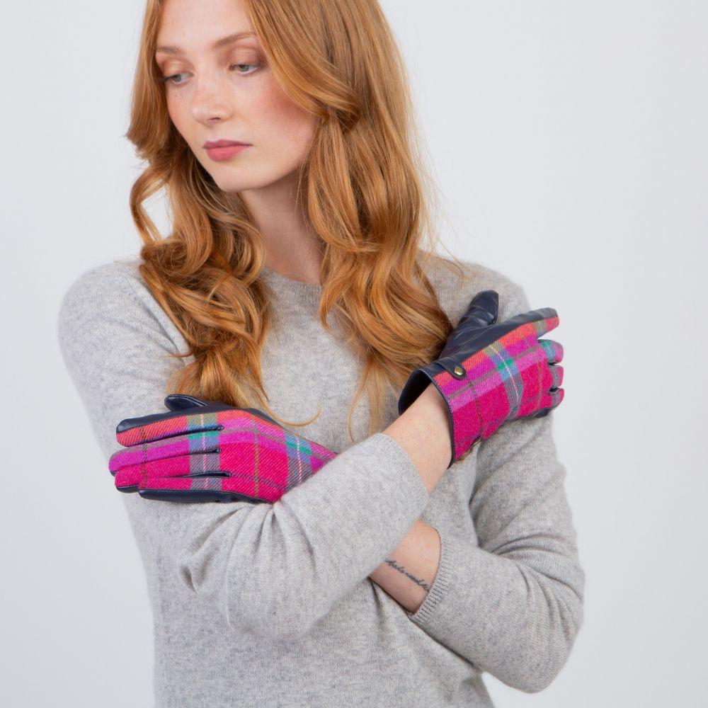 Ness Roxburgh Tweed Gloves - Melrose, Accessories