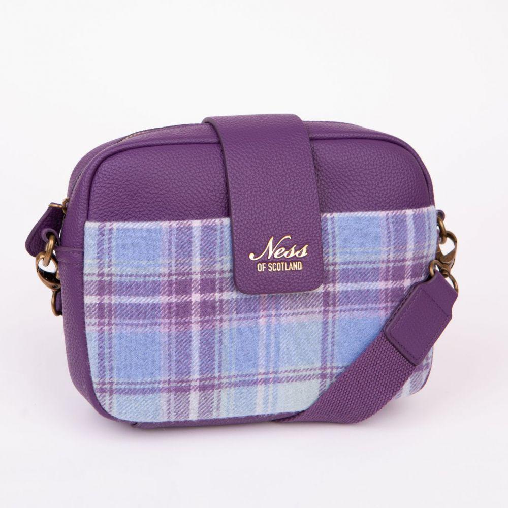 Ness Skye Tweed Cross Body Bag - Heather, Accessories
