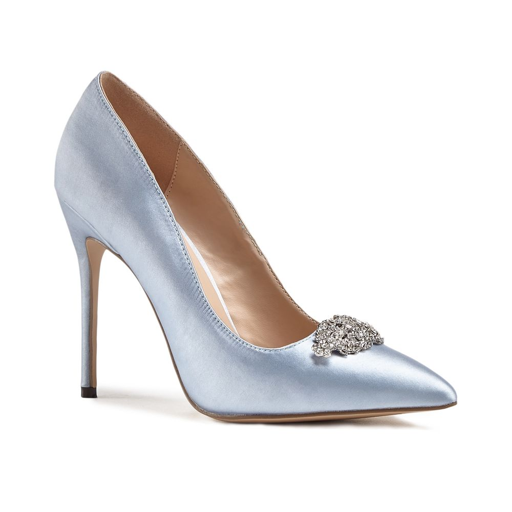 Alandra High Stiletto Jewelled Court Shoes - Something Blue, Shoes