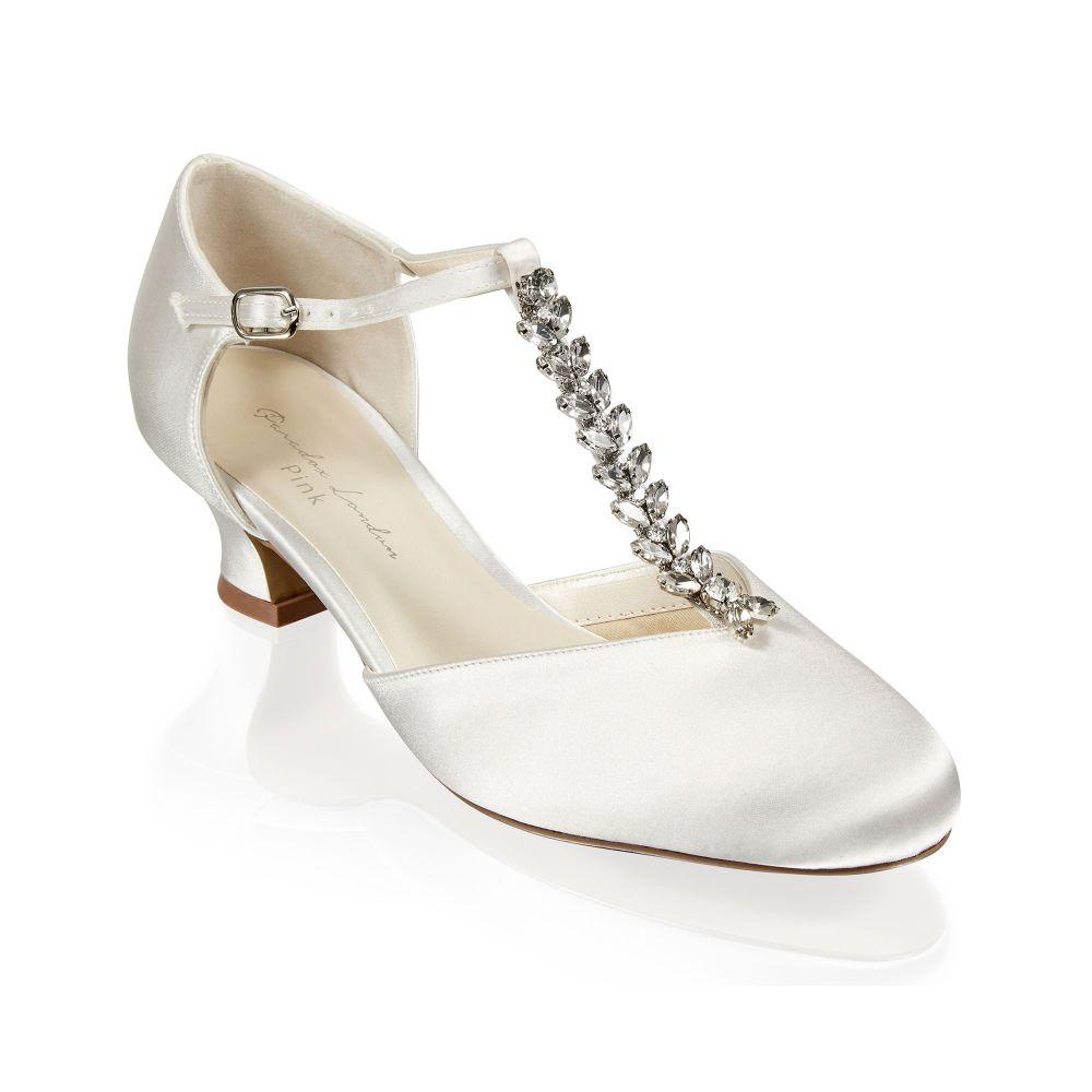 Alva Ivory Satin Wedding Shoes, Shoes