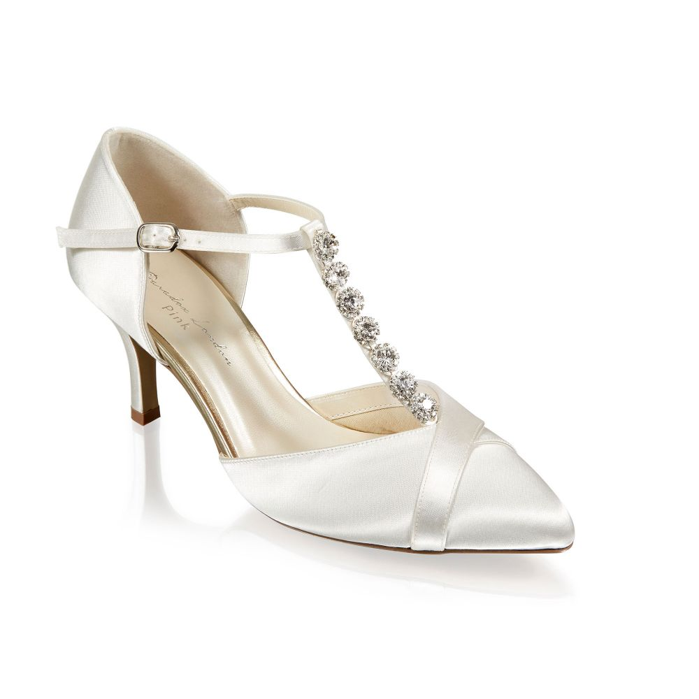 Anika Ivory Satin Bridal Shoes / Dyeable Shoes, Shoes