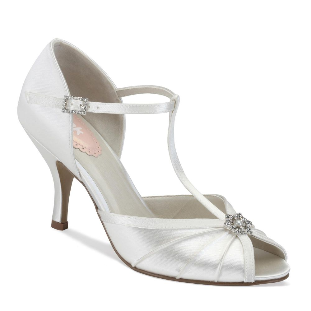 Perfume Ivory Satin Bridal / Occasion Shoes - Dyable, Shoes