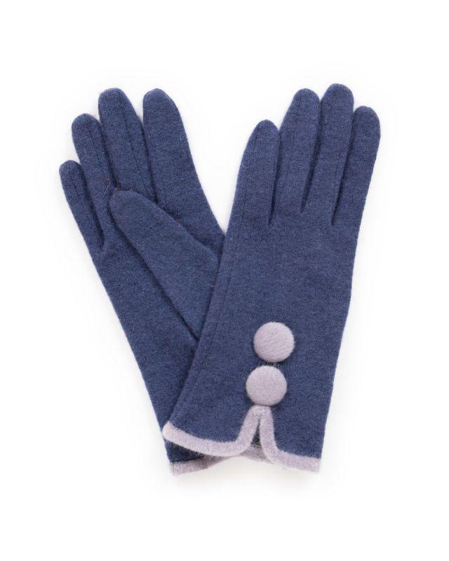 Powder Christabel Navy Wool Gloves, Accessories