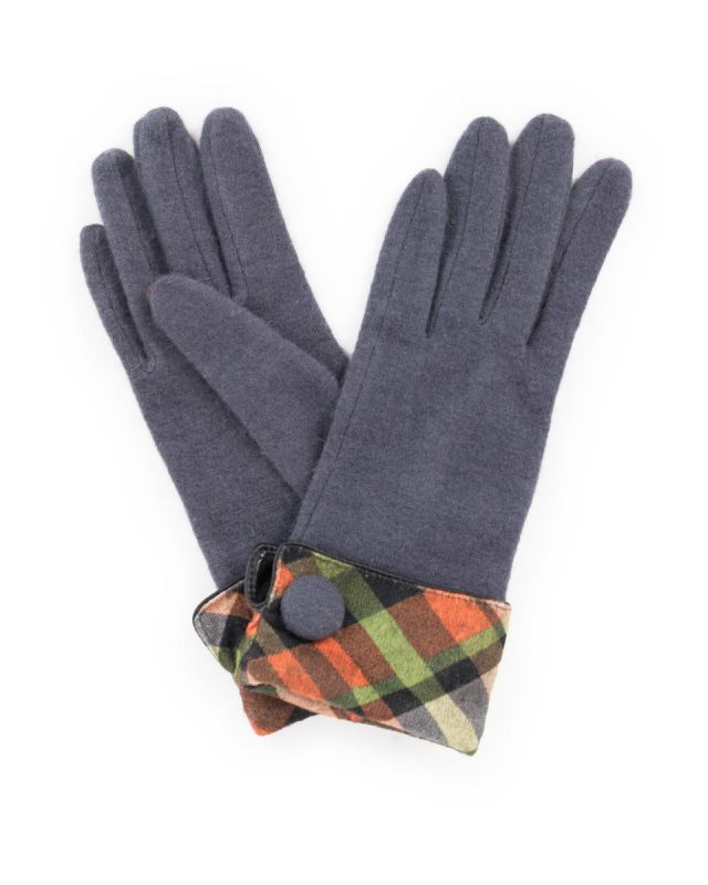 Powder Heather Charcoal Wool Gloves, Accessories