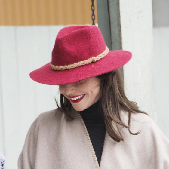 Powder Katie Fedora Hat - Berry, Ladies Hats