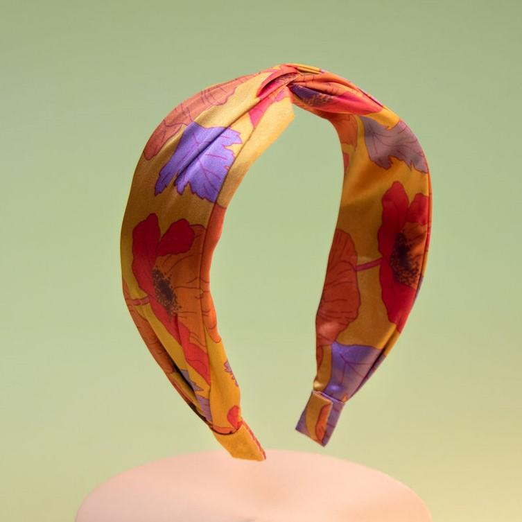 Powder Satin Headband - Poppy, Accessories