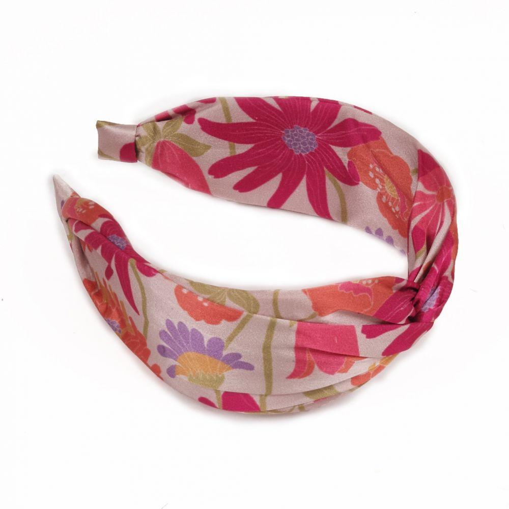 Powder Satin Headband - Retro Meadow Cream, Accessories