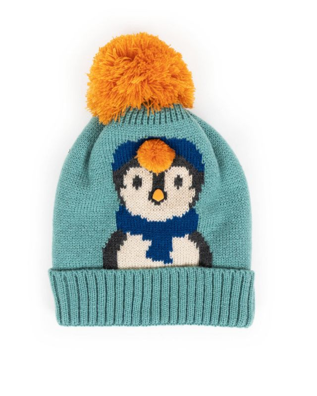 Cosy Kids Penguin Hat - Ice - Age 2-6 Years, Kids Hats & Mittens