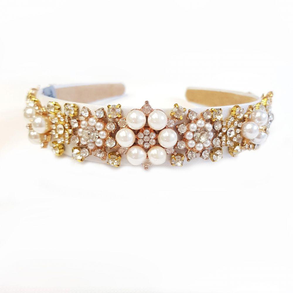 Designer Pearl Headband - Elizabeth, Designer Headbands