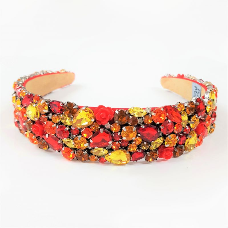 Designer Jewelled Headband - Fire, Designer Headbands