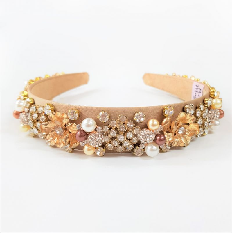 Designer Gold & Bronze Headband - Georgia, Designer Headbands