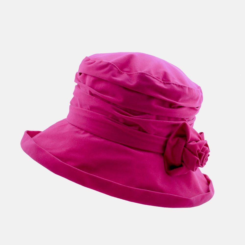 Proppa Toppa Waterproof Velour Packable Hat - Pink, Ladies Hats